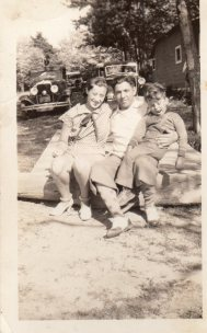 Aunt Molly, Uncle Abe and son Irwin 30s