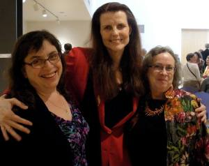 Three poets laureate past and present in a pod