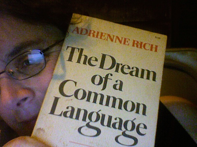 adrienne rich pieces of me Adrienne rich on power in society introduction the theme that interested me most in the poems by adrienne rich was the those poems were pieces of adrienne rich.