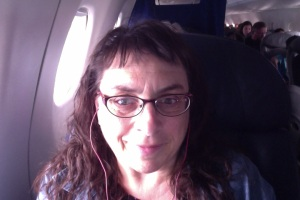 Here I am in my bigger, better first class seat.