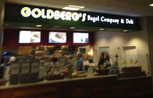Sometimes a bagel is your destiny (named so here) at blurry-o-clock in the morning somewhere in South Carolina