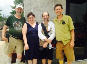 With old friends, from left, Steve, Dave, and John