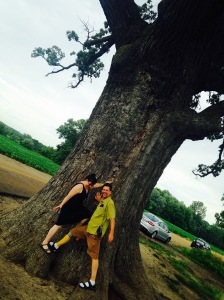 The big tree near Columbia with old friend John